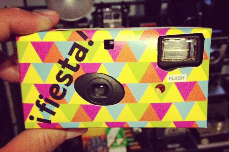 film camera flash built in