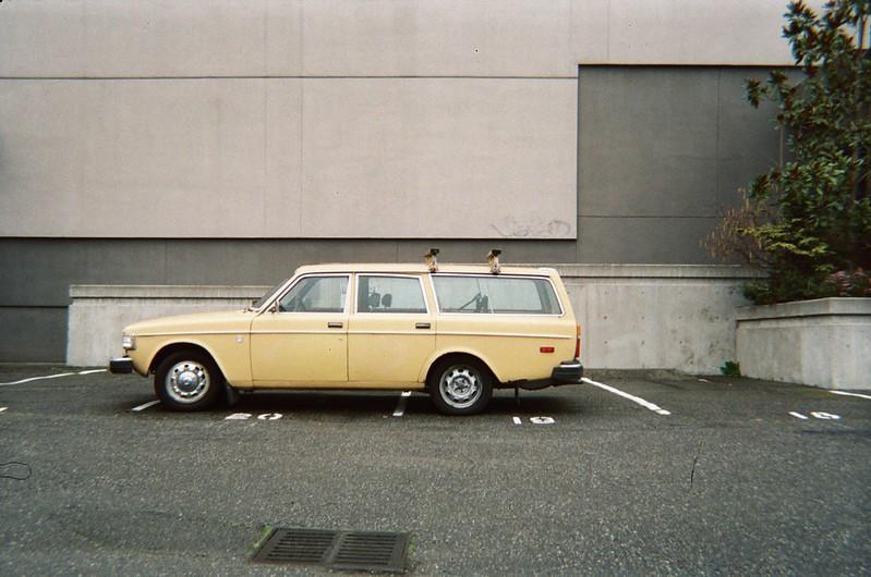 disposable camera car shot