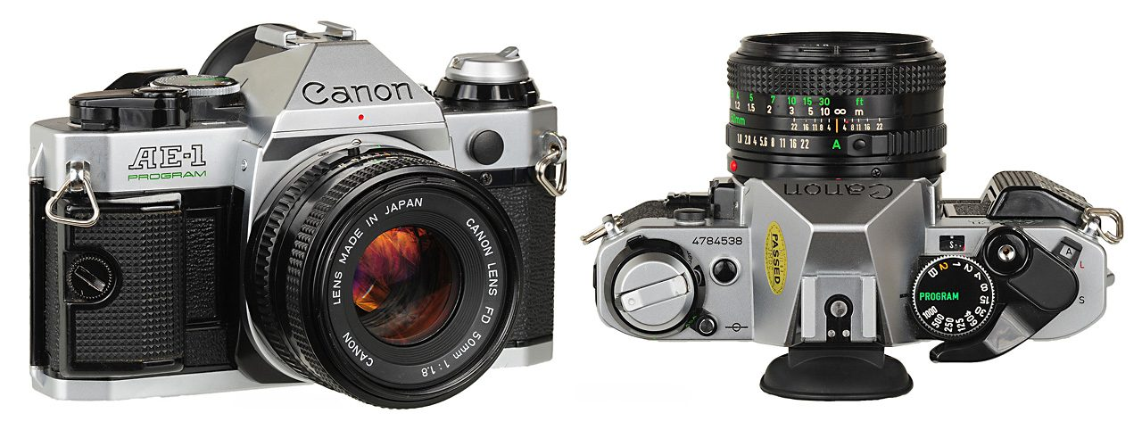 canon ae-1 front